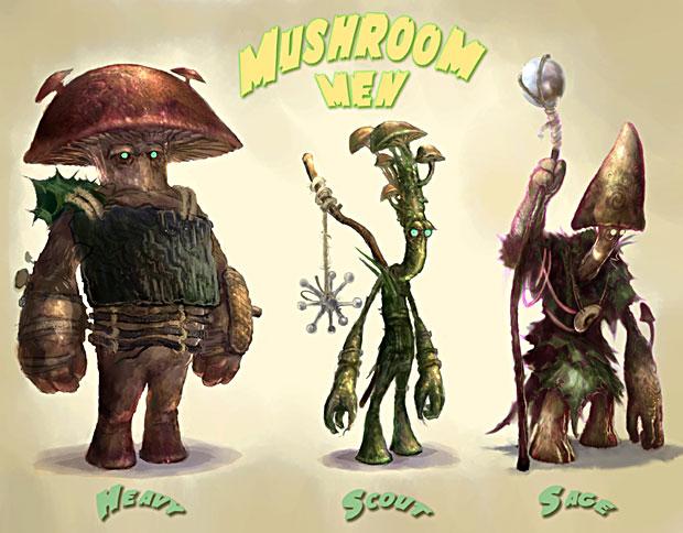 Mushroom Men Concept Art