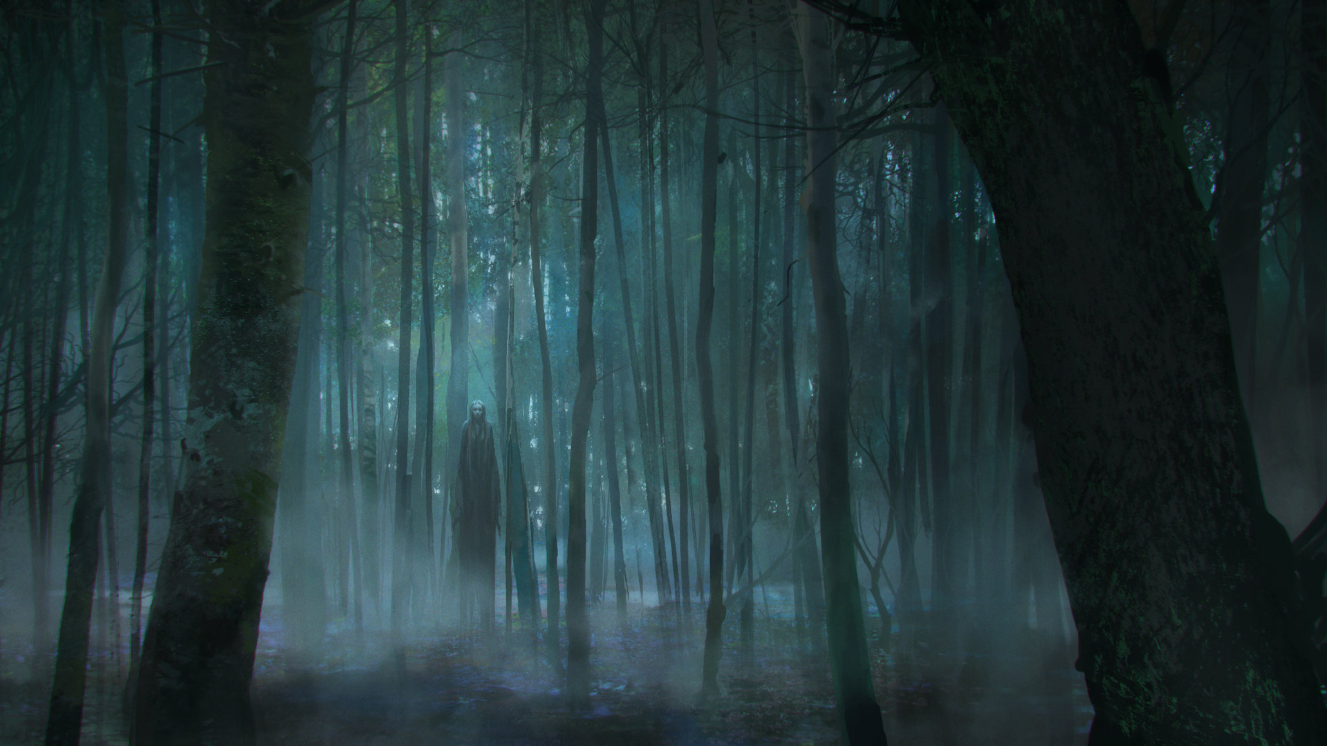 Viktor Titov | Concept Art World Anime Forest Clearing Background