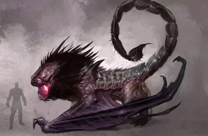 Izzy_Medrano_Concept_Art_Illustration_05_God_of_War_manticore