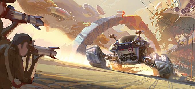 Volkswagon Bio Runner Concept Art