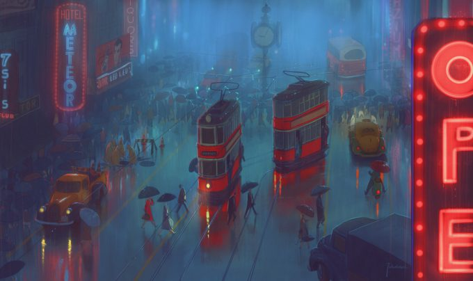 Marcin_Jakubowski_Concept_Art_Illustration_city_rain_l