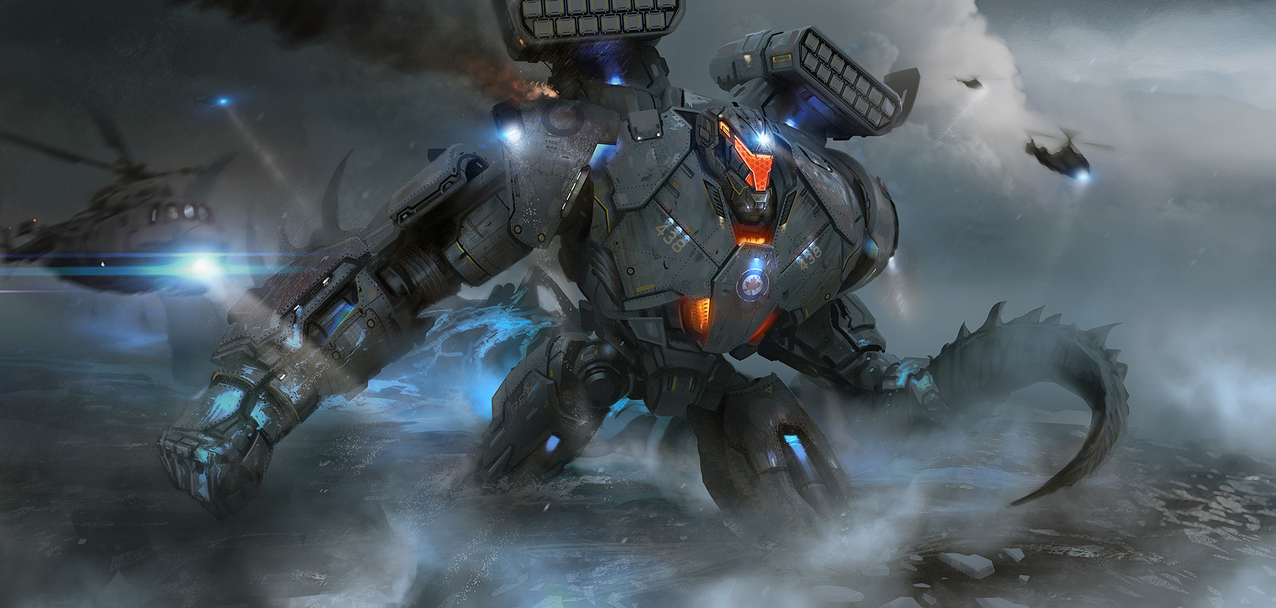 DEFENDER OF WORLDS - Chris Haigh | Huge Cinematic Epic ... Pacific Rim Concept Art Pilot