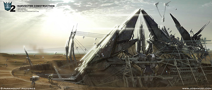 Josh Nizzi Concept Art for Transformers 2