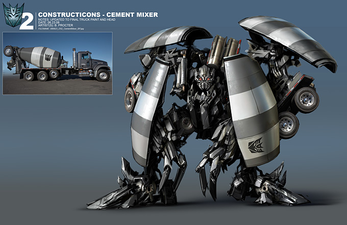 Transformers 2 Concept Art by Ben Procter