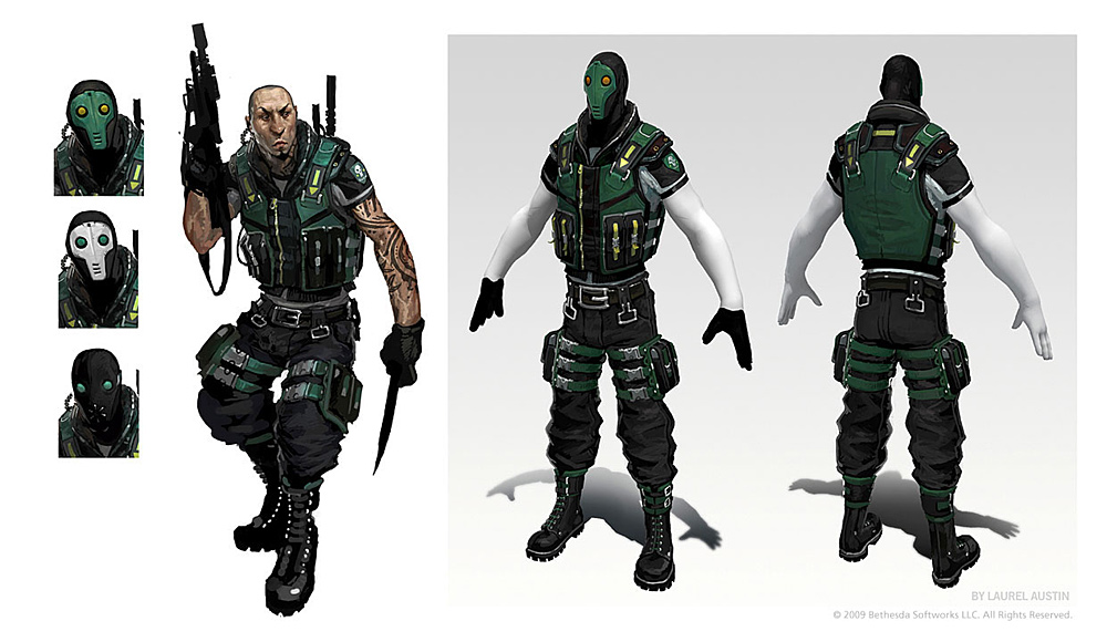 Brink Concept Art - Security Character