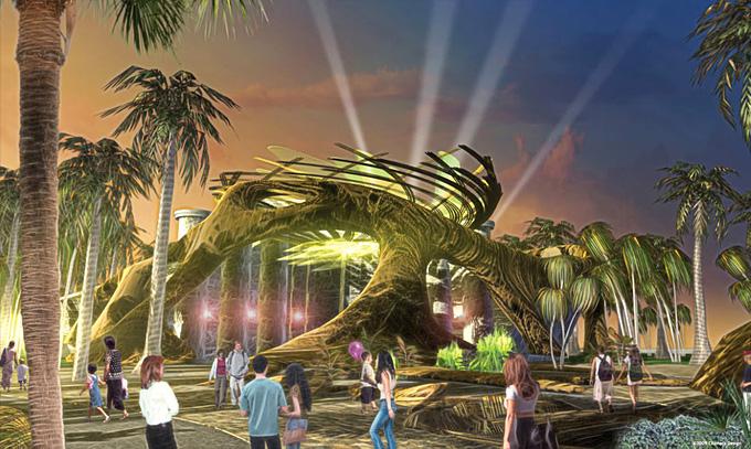 Marvel Dubailand Theme Park Concept Art
