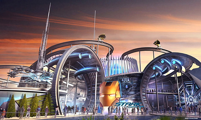 Marvel Dubailand Theme Park Concept Art