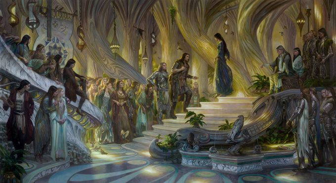 Donato_Giancola_Art_Illustration_Berenand_Luthienin_the_Court_of_Thingol_and_Melian