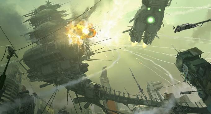 John_Park_Concept_Art_Hawken_02_Carrier_Scene_Explosion