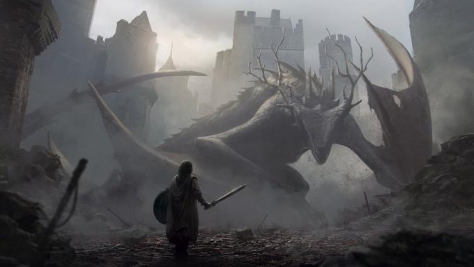 Jan_Ditlev_Concept_Art_aproaching-a-dragon