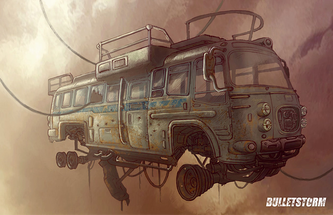 Concept Art World » Bulletstorm Concept Art