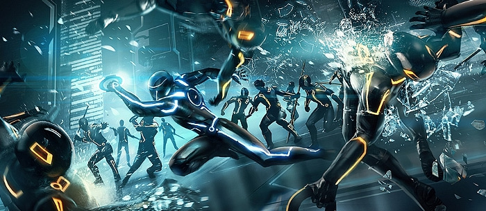 Tron Evolution Concept Art by Daryl Mandryk main