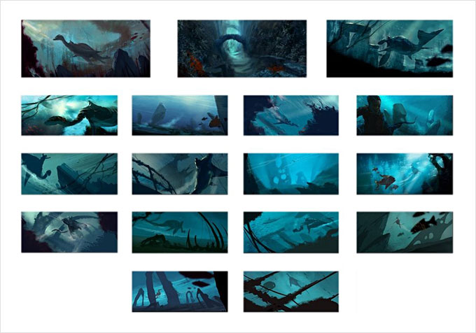 Hovig Alahaidoyan Concept Art and Storyboards
