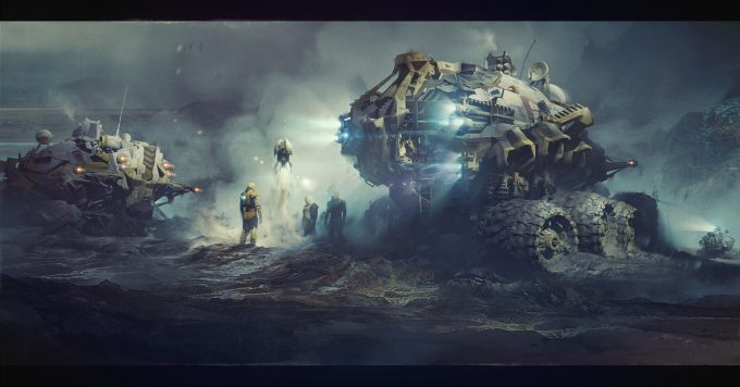 Ivan_Laliashvili_Concept_Art_Illustration_04_space-engineers-drone-launch