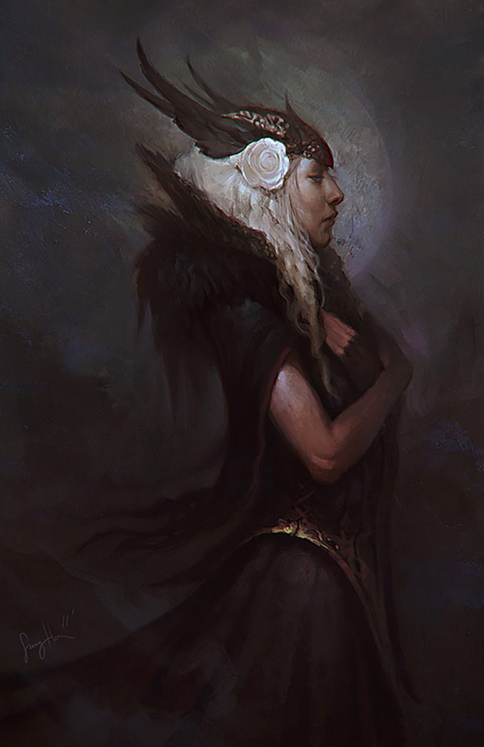 Sang Han concept art illustration Dark Valkyrie