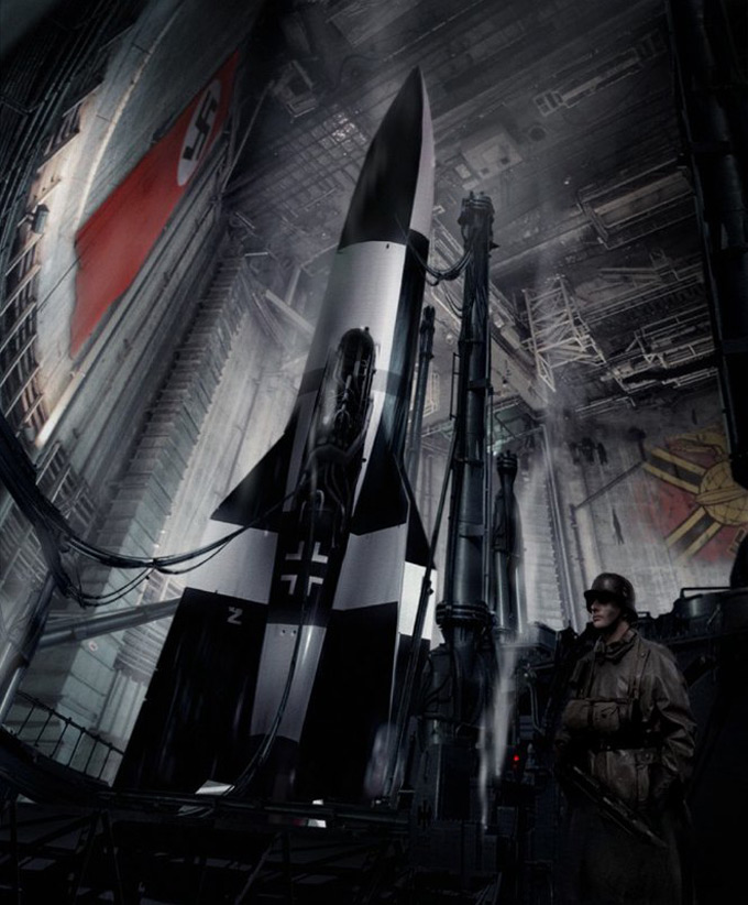 Matt Codd Concept Art - Nazi Space Rocket