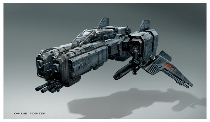 Matt Codd Concept Art and Illutration - Spaceship Fighter