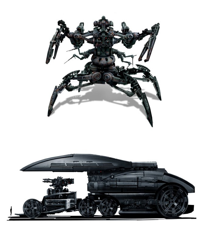 Matt Codd Concept Art - Machine Robot and Vehicle