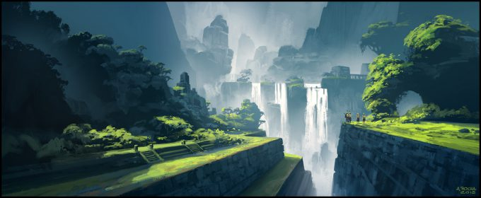 Andreas_Rocha_Concept_Art_Illustration_waterfall-memories