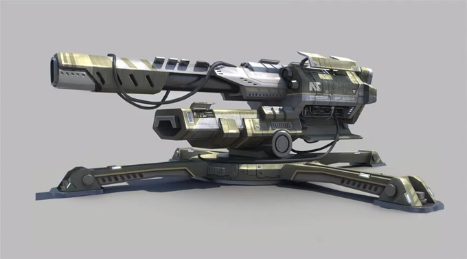 Planetside 2 Weapon Concept Art by Roel Jovellano 01a