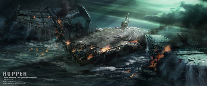 Battleship Concept Art by Josh Nizzi