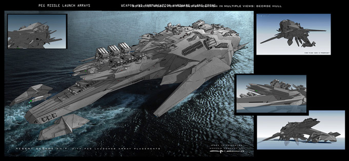 Battleship Concept Art by George Hull | Concept Art World
