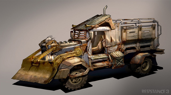 Colin Geller Concept Art Resistance 3