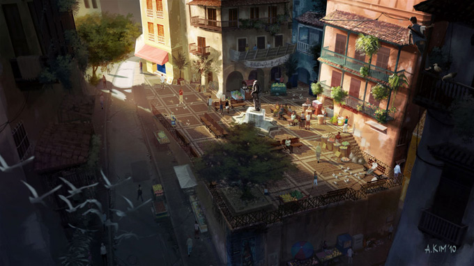 Uncharted 3 Concept Art by Andrew Kim