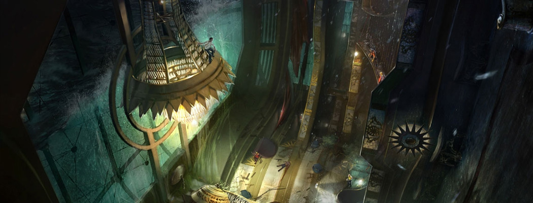 Uncharted 3 Concept Art by Andrew Kim MA