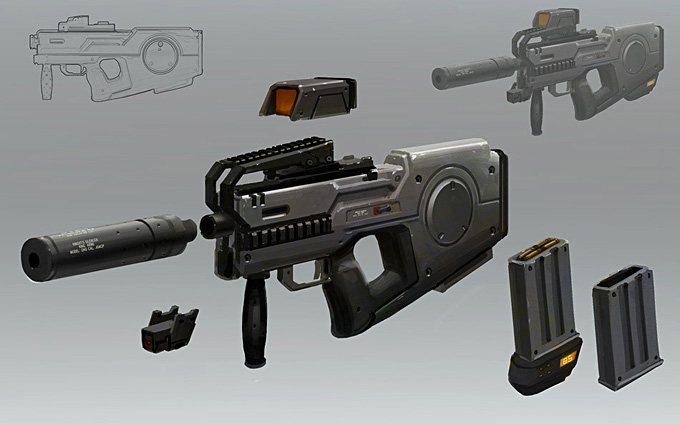 Weapon Concept Art by Adam_Baines