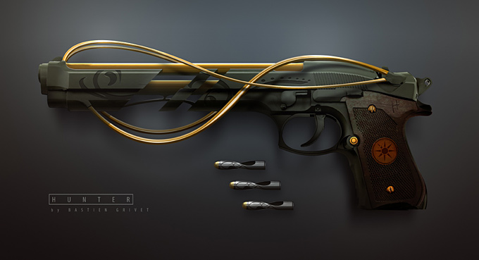 Weapon Concept Art Bastien Grivet
