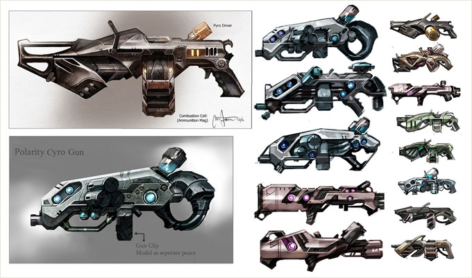 Weapon Concept Art Chris J. Anderson