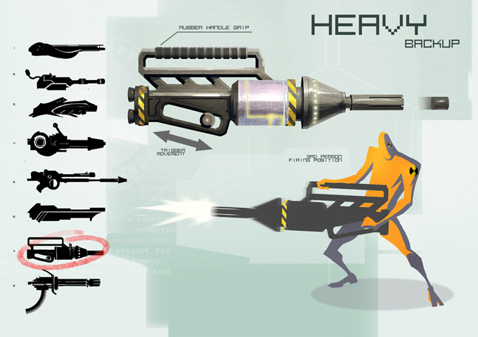 Weapon Concept Art Den Yang Ho