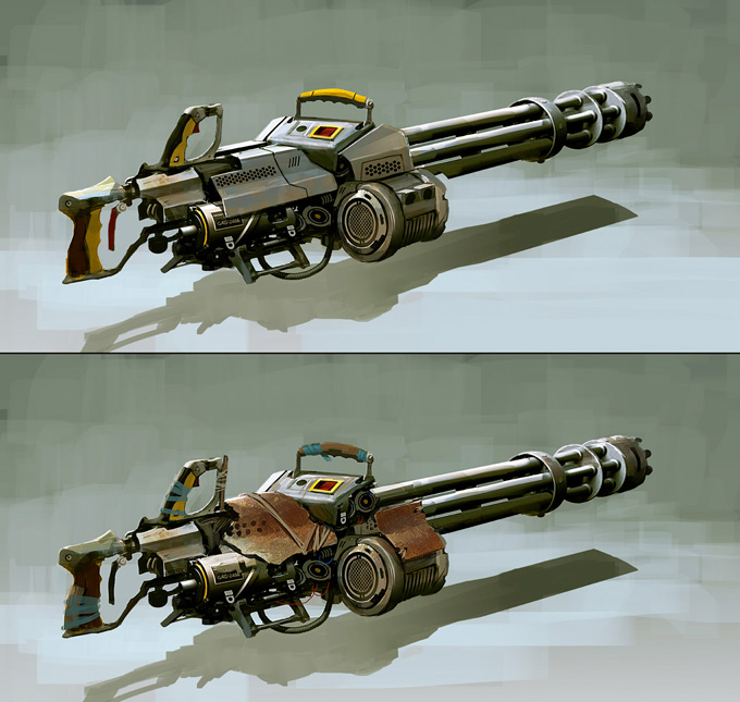 Weapon Concept Art Leonid Enin