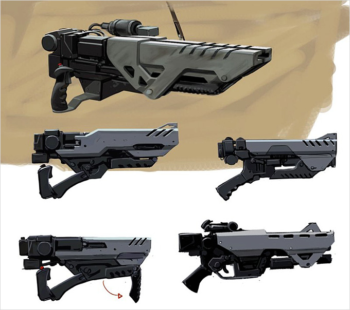 Weapon Concept Art Rodolfo Damaggio