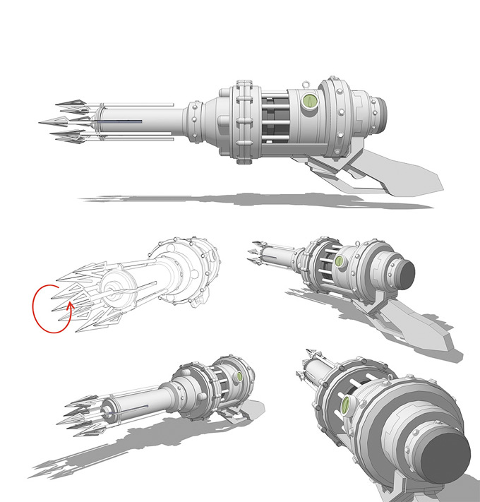 Weapon Concept Art Sam Brown