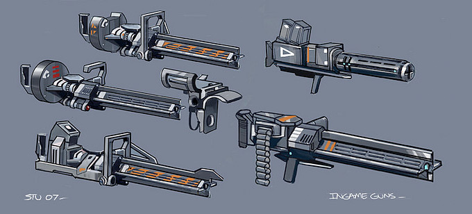 Weapon Concept Art Stuart Jennett
