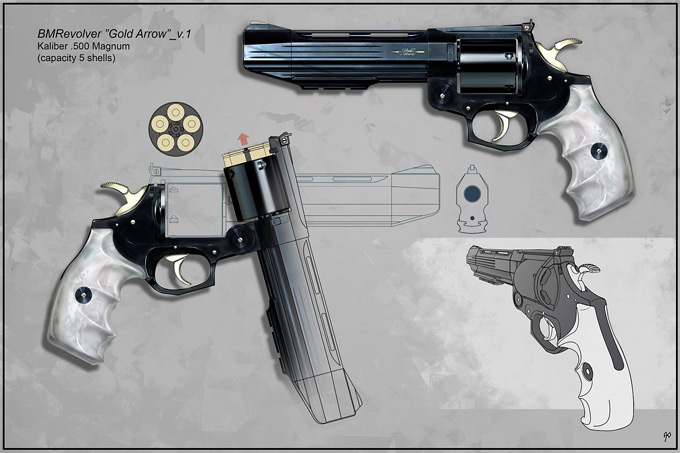 Weapon Concept Art Timur Mutsaev