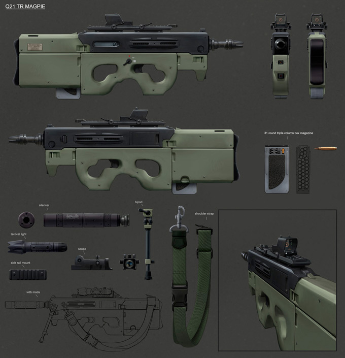 Weapon Concept Art Ville Ericsson