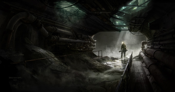 François Baranger Concept Art BLACK DEATH Sewers