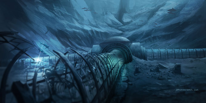 François Baranger Concept Art THE DEEP Background star structure