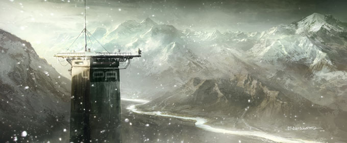 François Baranger Concept Art Watch tower