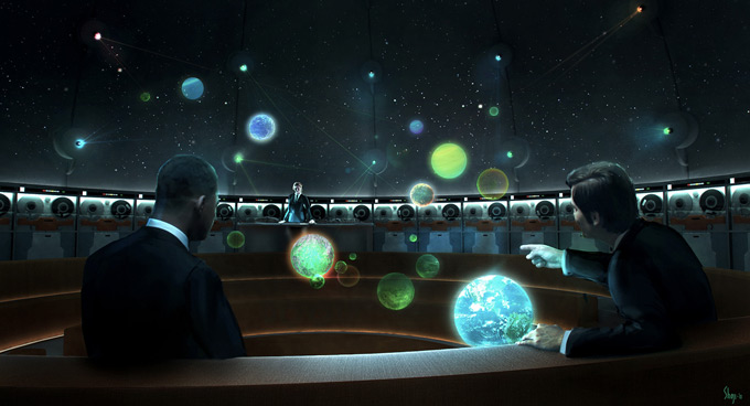 Men in Black 3 Concept Art by Craig Shoji