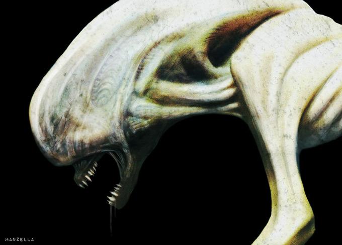 Protheus Creature Concept Art by Ivan Manzella