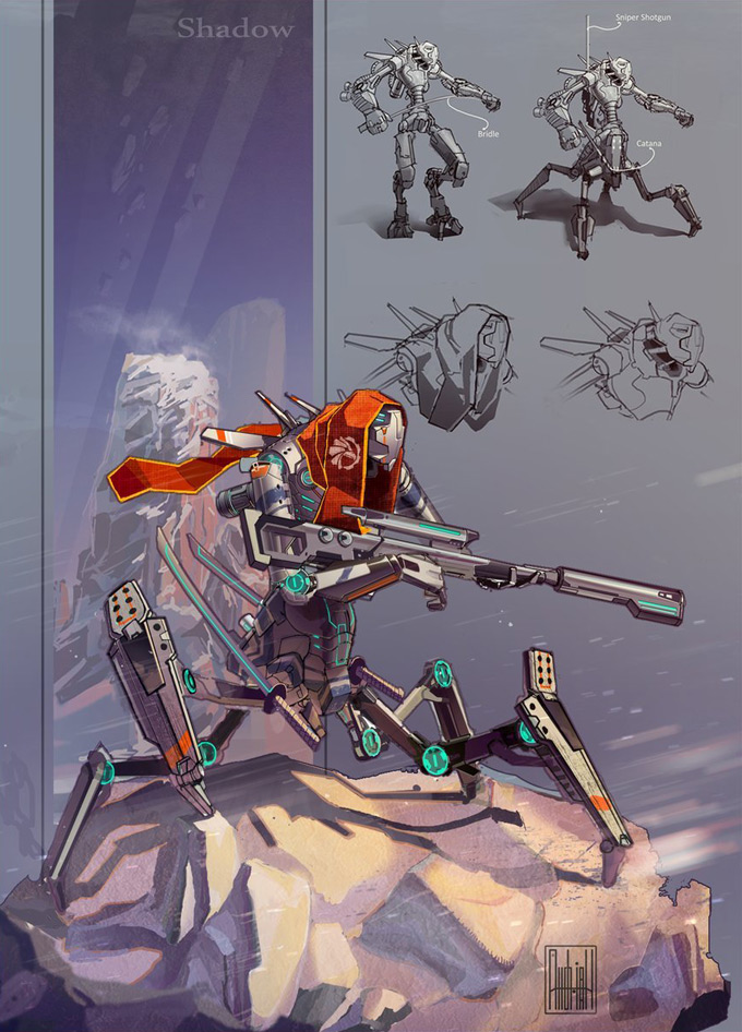 Andrian Luchian Concept Art Robot