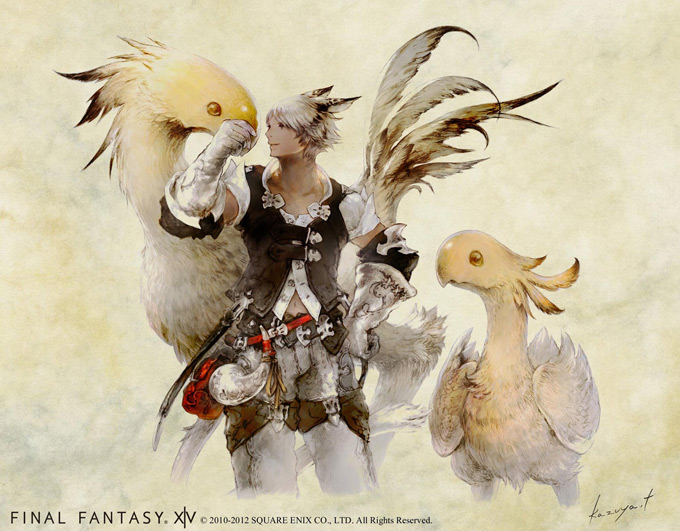 Final Fantasy XIV Online Concept Art Chocobo