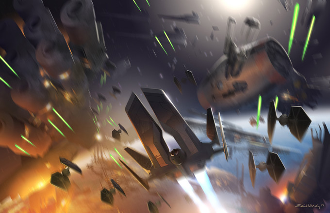Star Wars: The Force Unleashed I & II Concept Art by Stephen Chang