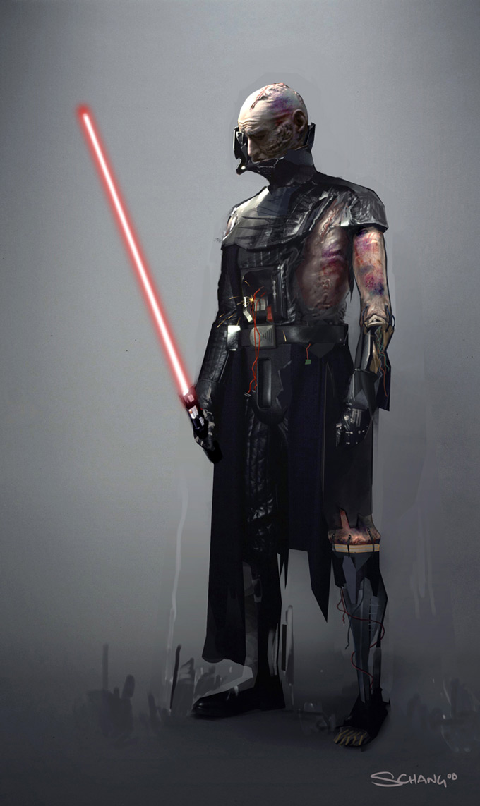 Star Wars: The Force Unleashed I &amp; II Darth Concept Art by Stephen Chang