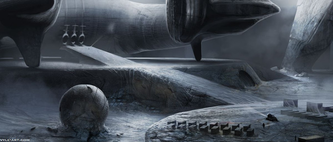 Prometheus Concept Art by David Levy