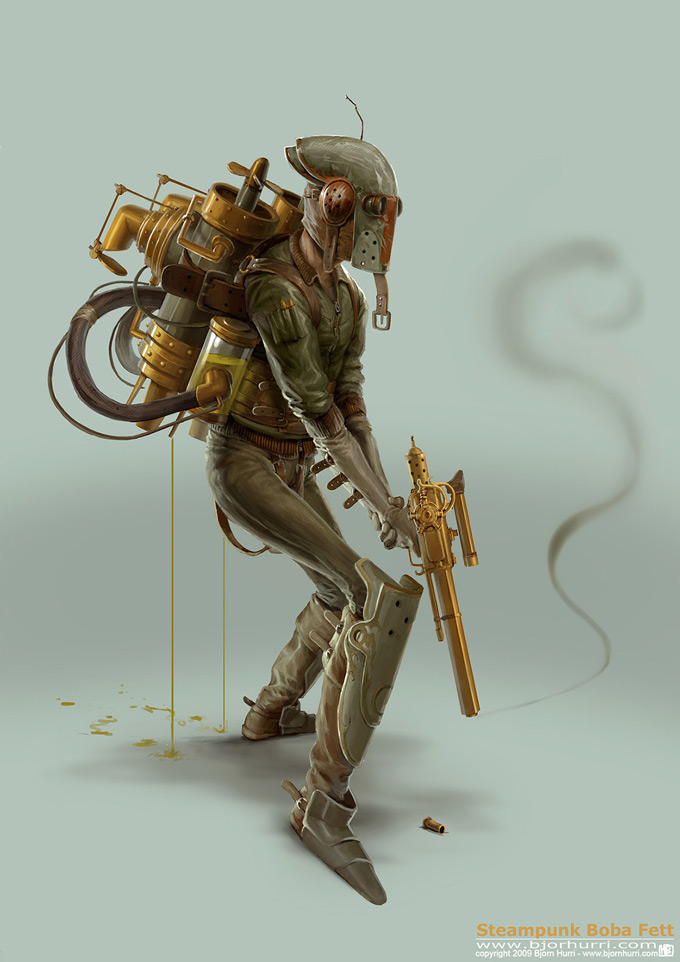 Steampunk Star Wars Illustrations by Björn Hurri